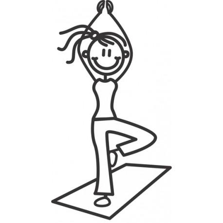 The Sticker Family - Mamá Yoga M33