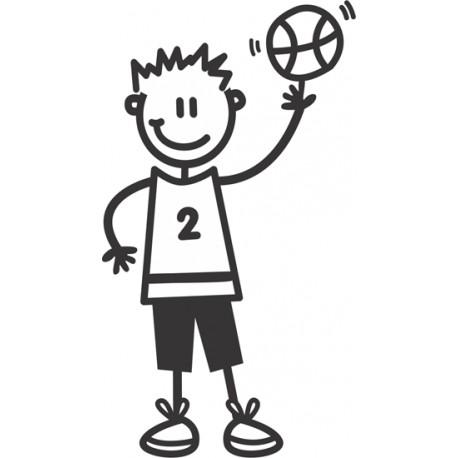 The Sticker Family - Chico Jugador Basket OB27