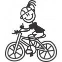 The Sticker Family - Niña en Bicicleta G10