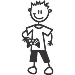 The Sticker Family - Niño con juegos electrónicos B2