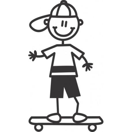 The Sticker Family - Niño con Skateboard B3
