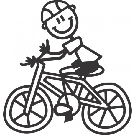 The Sticker Family - Niño en Bicicleta B10
