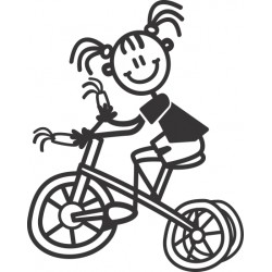 The Sticker Family - Niña Pequeña con Triciclo YG6