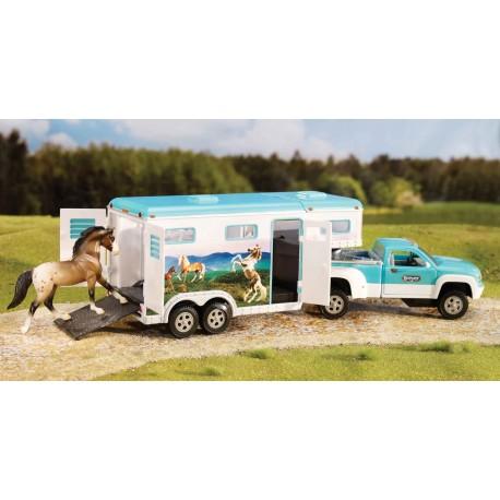 Breyer - Vehículo Pick-up y Remolque para caballos