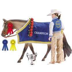 Breyer Traditional 1:9 - Accesorio Manta y Trofeos Champion