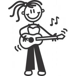 The Sticker Family - Chica Guitarrista OG11