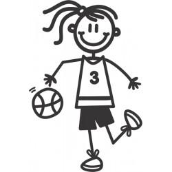 The Sticker Family - Chica Jugadora Basket OG28