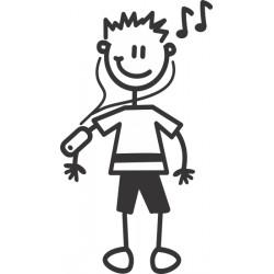 The Sticker Family - Chico con Música OB1
