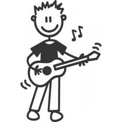 The Sticker Family - Chico Guitarrista OB11