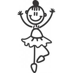 The Sticker Family - Niña Ballet G2