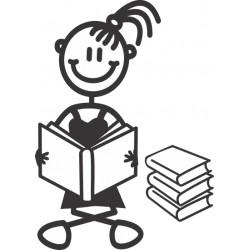 The Sticker Family - Niña leyendo Libros G4