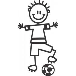 The Sticker Family - Niño Futbolista B1