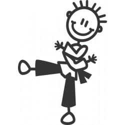 The Sticker Family - Niño en Artes Marciales B5