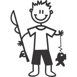 The Sticker Family - Niño de Pesca B18