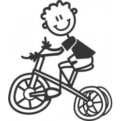 The Sticker Family - Niño Pequeño con Triciclo YB6