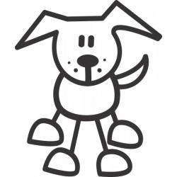 The Sticker Family - Perro de Frente D4