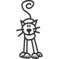 The Sticker Family - Gato de Frente C2