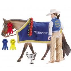 Breyer Traditional 1:9 - Accesorio Manta y Trofeos Champion